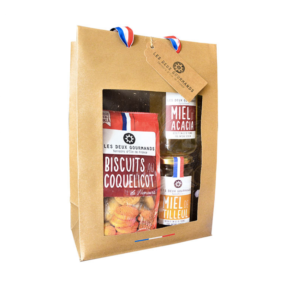coffret biscuits miel